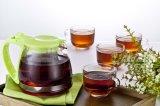 Tetera del conjunto de té de las mercancías caseras con 4 tazas del vidrio del PCS