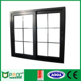 Rotura termal de aluminio Windows de desplazamiento con el vidrio Tempered Pnoc0014slw