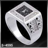 Anello di barretta dell'argento dei monili di modo per l'uomo