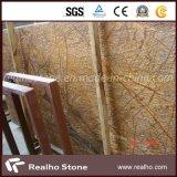 Indain 싱크대와 벽을%s 대리석 열대 다우림 브라운 대리석 석판 그리고 도와