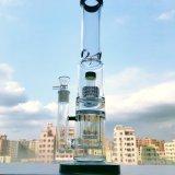 In het groot 17 duim - de lange Dubbele Rokende Pijp van het Glas van Perc van de Matrijs van de Honingraat met de Inkeping van het Ijs
