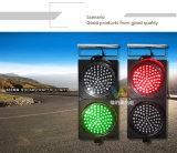 高い明るさの赤い緑300mmの交差の道の太陽信号