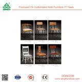 Примите подгонянную европейскую гостиницу типа обедая стул стула твердый деревянный
