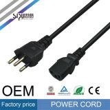 Sipu Brazil Plug CCC approuvé Câble de cordon d'alimentation pour ordinateur 3pin
