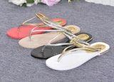 女性浜のサンダルの卸売浜のスリッパ最新のデザインゼリーの女性の平らなサンダル