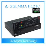 디지털 Multistream 암호해독기 Zgemma H5.2tc 인공위성 또는 케이블 Recceiver DVB-S2+2*DVB-T2/C는 조율사 Hevc/H. 265를 가진 이중으로 한다