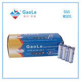 Batterie de cellule sèche du 18h 1.5V d'aa R en emballage de cadre