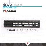 Tacband CNC-Bearbeitete super dünnen freien Gleitbetrieb Keymod 10 Spitzenschienen-Schwarzes der Zoll Handguard Schienen-W/Picatinny maschinell