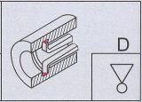 Измеряя инструмент внутри калиберной скобы шкалы