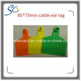 Tag de orelha plástico animal do gado do equipamento de exploração agrícola do fornecedor de China