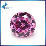 타이란드 원석 9 심혼 & 1 꽃 분홍색 입방 지르코니아