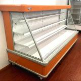 Semi refrigerador aberto Refrigerated supermercado do refrigerador do indicador de Multideck para o mantimento