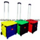 Коробка цветастой вагонетки покупкы складывая
