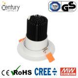 商業プロジェクトの7W 9W 12W 20W 30W 40W 50W 60W LEDの天井灯の引込められた穂軸LED Downlight