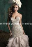 圧倒すること玉を付けるキャミソールの人魚のトランペットのウェディングドレスのプロムの服の婚礼衣裳(夢100033)に