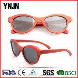 Солнечные очки Ynjn ручной работы красные естественные деревянные