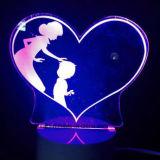 Светильник ночи формы 3D сердца нового прибытия перезаряжаемые