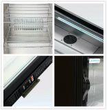 Dukers 138L escoge el refrigerador de la cerveza de la puerta, refrigerador posterior de la barra, escaparate de cristal, caso de visualización de la cerveza