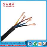 2 fio elétrico do código de cor do cabo do núcleo 1.5mm do núcleo 5 do núcleo 4 do núcleo 3 2.5mm flexível