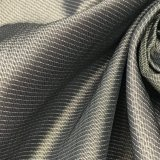 75D schwarzer u. weißer Streifen variiertes Twill-nachgemachtes Speicher-Gewebe für Umhüllungen
