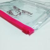 Sac en plastique de tirette de PVC d'espace libre respectueux de l'environnement pour le produit de beauté
