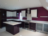 台所家具の現代カスタマイズされた光沢度の高いラッカー食器棚