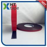 빨간 강선 검정 색깔 두 배는 테이프 거품 편들었다