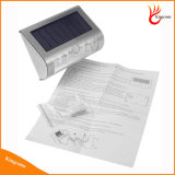 9LED PIRセンサーの太陽軽いヤードのテラスの経路の太陽塀ライト無線太陽庭ライト