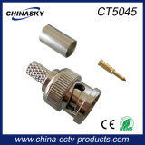 Crimp Male CCTV BNC-Stecker für Koaxialkabel (CT5045)