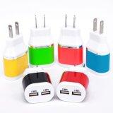 이동 전화 부속품 제조자 5V2.1A는 충전기 USB 여행 벽 이중으로 한다