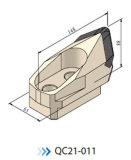 Ferramenta de encaixe de tubagem Micro Ferramentas de tunelagem Cutter Bit QC21-011 Bfm16