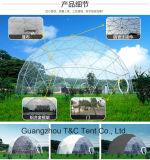 Tienda geodésica de la tienda de la bóveda de la media esfera de Dia5-30m con la tela del PVC