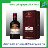 Vakje van de Gift van de Magneet van de Wijn van de Luxe van de Juwelen van het Satijn van het Met een laag bedekte Document van de douane het Binnenlandse Verpakkende