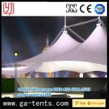 Hat Shape Hotel Tent avec Beautful Lighting Effcet Half-Transparent PVDF