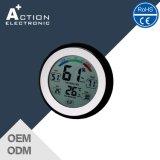De ronde Thermometer van het Huishouden van het Scherm van de Aanraking van de Vorm Digitale met Hygrometer