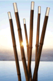 Solar-LED-Bambusfackel-Licht, SolarTiki Torchbamboo Tiki Torches Landschaftssolarlichter