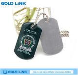 I militari su ordinazione di promozione della collana dell'esercito di stampa in offset della modifica di cane etichettano