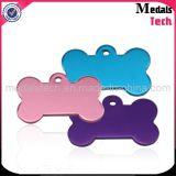 Anodisé Aluminium Custom Metal Tags de chien Tags pour animaux de compagnie