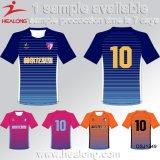 Healong 100 Polyester Digital sublimierte Streifen-Fußball-konstantes Fußball-Set