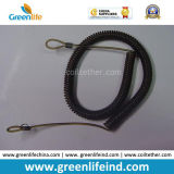 Detenedor en espiral del acollador del espiral largo negro sólido de la fuente de la fábrica de China
