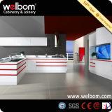 Cuisine à haute brillance blanche moderne de Welbom