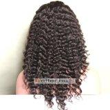 Boa qualidade 100% cabelo virgem peruca de cabelo humano laço cheio