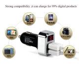 Carregador duplo do carro do USB da alta qualidade com indicador de diodo emissor de luz a tensão da bateria