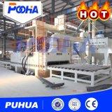 Tipo máquina del rodillo de la marca de fábrica de Puhua del chorreo con granalla para la limpieza gruesa de la placa