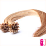 Extension pré collée saine de cheveux de 100% que j'incline, extrémité d'U