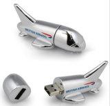 Usb-Blitz-Laufwerk Soem-Firmenzeichen-Flugzeuge Plain Metall-USB-grelle Plattenspeicher-Stock USBPendrives USB-Karten-Federlaufwerk grelle Karte USB-Daumen-Luftfahrt-Geschenke