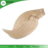 Cabelo humano louro não processado por atacado do fabricante 100% Remy do cabelo