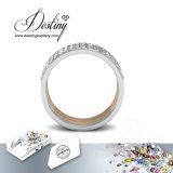 Het Kristal van de Juwelen van het lot van vrij Perfecte Ring Swarovski
