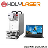 Fiber Laser Preto Cor Branco máquina da marcação