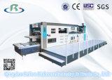 Máquina automática de la fabricación de cajas del papel acanalado (que corta con tintas y que arruga)